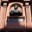 Bust of Sir Augustus Harris at the Theatre Royal Drury Lane - Stock Photo