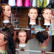 Hairstyles On Manniquins — Stock Photo
