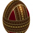 Isolated ornate egg - Stock Photo