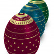 Three ornate eggs - Stock Photo