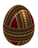 Isolated ornate egg — Stock Photo