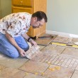 Ceramic Tile Installer — Stock Photo