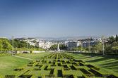 Eduardo VII park gardens in lisbon portugal — Stock Photo