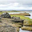 Volcanic landscape in iceland interior — Stock Photo