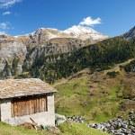 Vals village in switzerland alps — Stock Photo #10399067