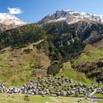 Vals village in switzerland alps — Stock Photo #10399077