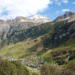 Vals village in switzerland alps — Stock Photo #10399097