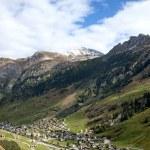 Vals village in switzerland alps — Stock Photo #10399100