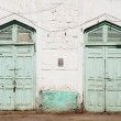 Doors in massawa eritrea — Stock Photo