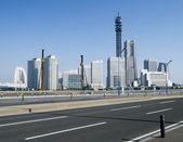 日本では日によって横浜スカイライン — ストック写真