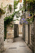 Budva old town street, montenegro — Stock Photo