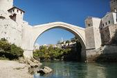 Old stone bridge in mostar bosnia — Stock Photo