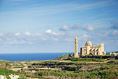 Gozo island landscape in malta — Stock Photo