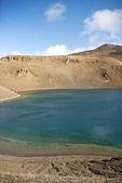 Volcanic lake in iceland — Stock Photo