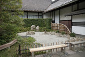Japanese traditional stone garden in kyoto japan — Stockfoto