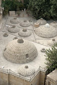 Traditional rooftop domes in baku azerbaijan — Stock Photo