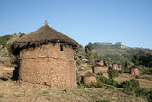 Traditional african homes in lallibela ethiopia — Stock Photo