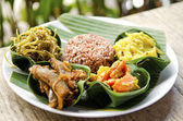 Indonesian food in bali — Stock Photo