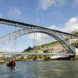 Dom luis bridge in porto portugal - Stock Photo