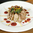 Stock Photo: Pork and vegetables dish