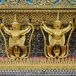 Grand palace temple detail bangkok thailand — Stock Photo #10401041