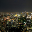 Bangkok skyline by night — Stock Photo