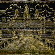 Painted image of angkor wat in cambodia — Stock Photo