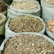 Traditional herbs in vietnam market — Stock Photo