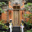 Temple door in bali indonesia - Stock Photo