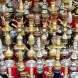Narguileh shisha water pipes in cairo egypt - Stock Photo