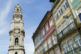 Clerigos tower in porto portugal — Foto Stock