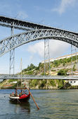 Dom luis bridge in porto portugal — Stock Photo