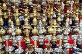 Narguileh shisha, canos de água no cairo egito — Foto Stock