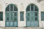 Windows in massawa eritrea ottoman influence — Stock Photo
