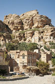 Yemeni mountain village near sanaa yemen — Stock Photo