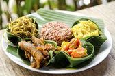 Indonesian food in bali — Stock Photo