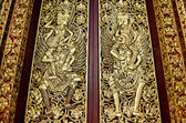 Temple door in bali indonesia — Stock Photo