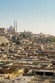 Ciudad de los muertos y la ciudadela del cairo egipto — Foto de Stock