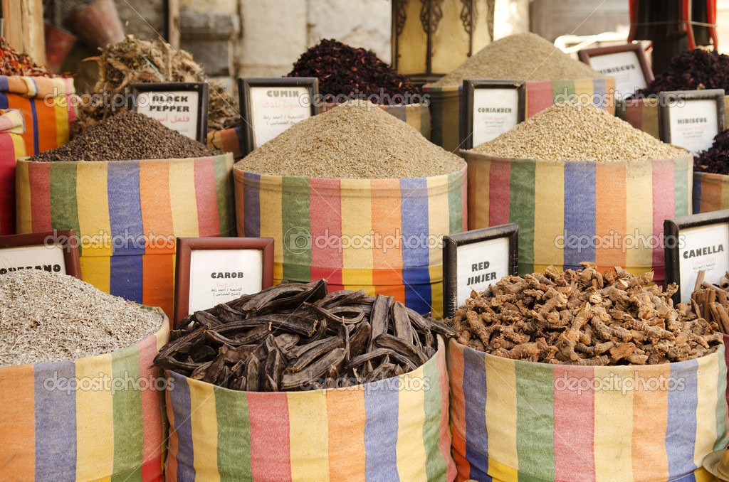 Spices in middle east market cairo egypt — Stock Photo #10404936