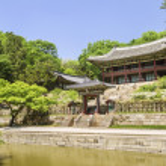 Palace garden building seoul south korea — Stock Photo #10487777