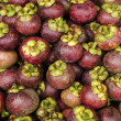 Mangosteen tropical exotic fruit in market - Stock Photo