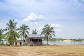 Village house in rural cambodia — Stock Photo