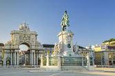 Praca comercio square lisbon portugal — Stock Photo