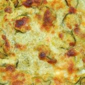 Courgettes zucchini omelette — Stock Photo