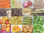 Essen-collage — Stockfoto
