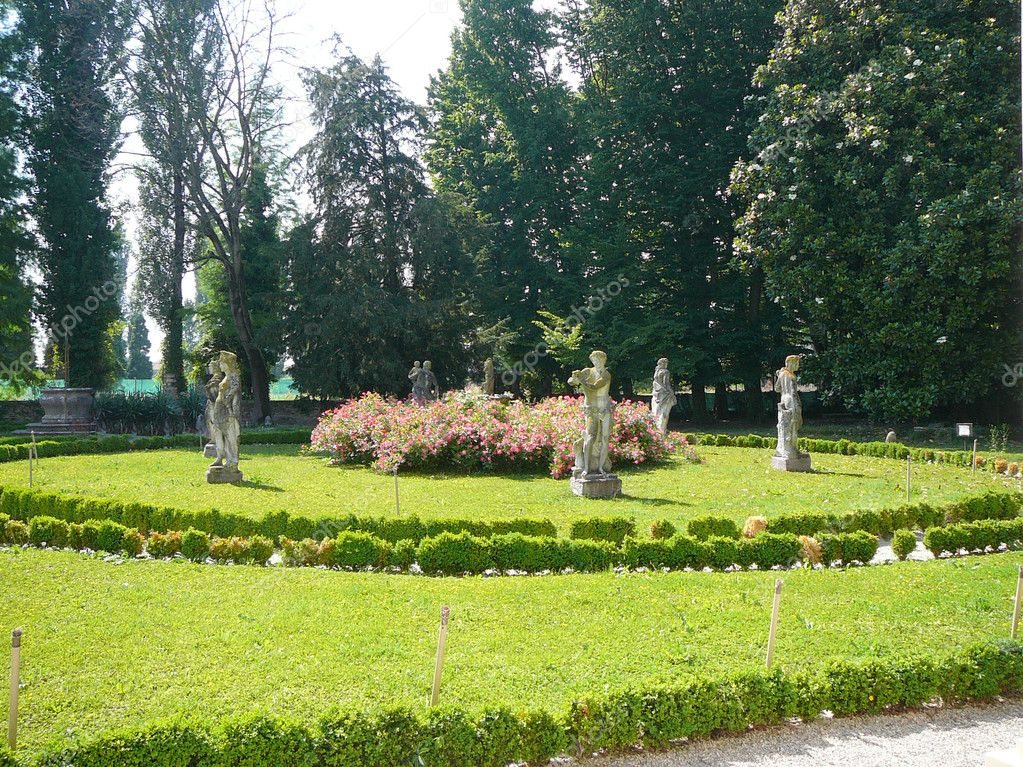 Ancient villa Widman and garden in Padua (Padova) in Veneto, Northern Italy  Stock Photo #8627679