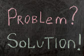 Problem and Solutions Sign — Stock Photo