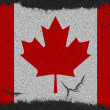 Canada grunge flag — Stock Photo