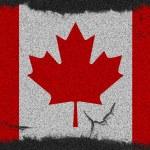 Canada grunge flag — Stock Photo