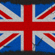 Great Britain grunge flag - Stock Photo